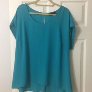 Teal sleeveless top